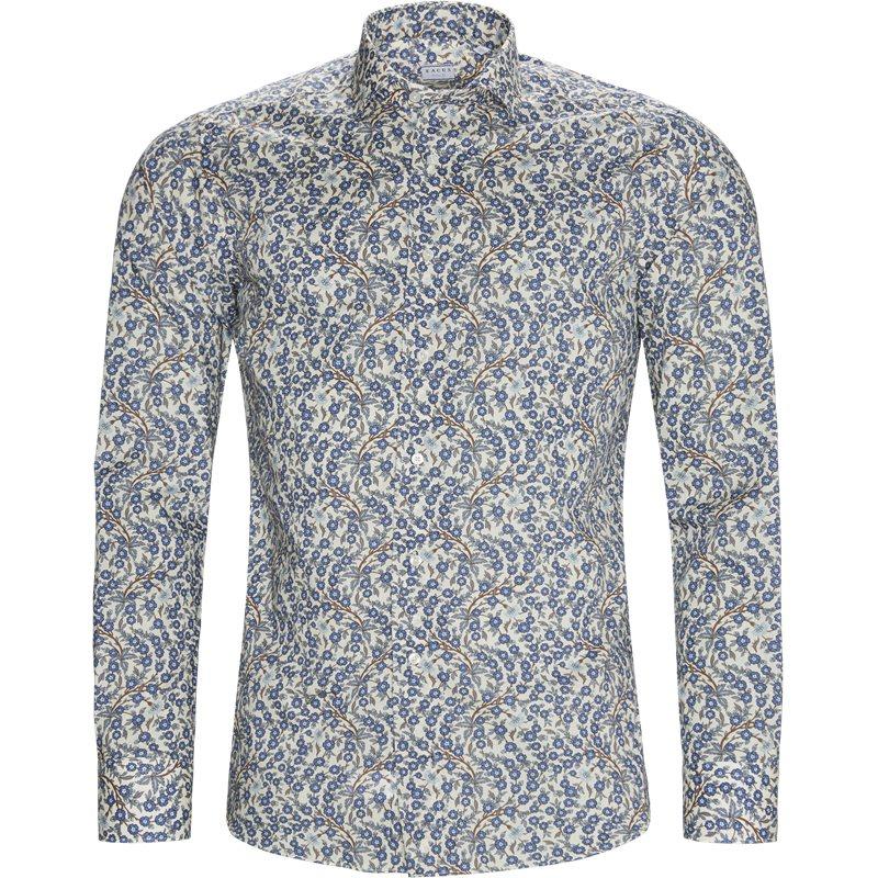 xacus Xacus tailor 51506 558 n skjorter blue flower fra axel.dk